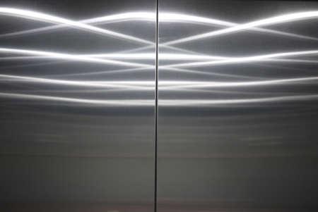 closed stainless steel elevator door Stock Photo - 17163371