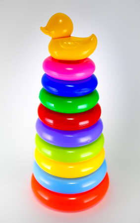colorful plastic stacking ring for children Stock Photo - 17260198