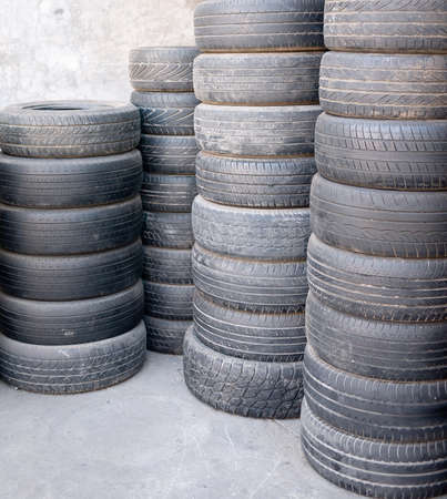 Stacks of used car tires Stock Photo - 17307493