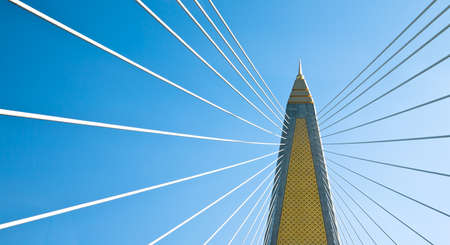 cable stayed bridge in bangkok
