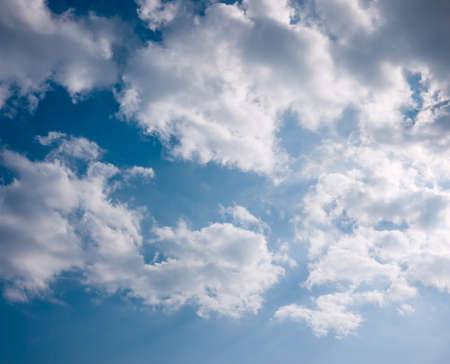 timid: white cloud in the timid sky with shade of light