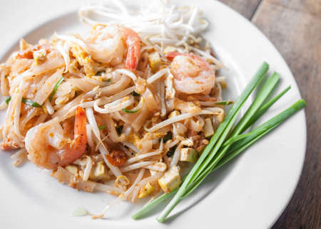 Pad Thai, stir-fried rice noodles, is one of Thailands national main dish