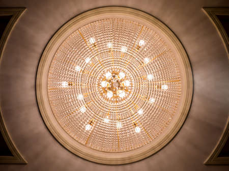 Circle chandelier ceiling light decoration from bottom view photo