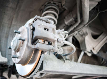 Standard car disc brake with suspension in the back Stock Photo - 19238180