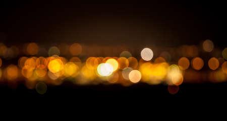 боке: Боке абстрактный фон в оранжевый и золотой цвета