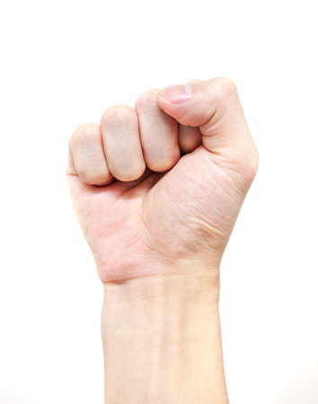 Zero hand sign symbolize of the power or feeling  against expression Stock Photo