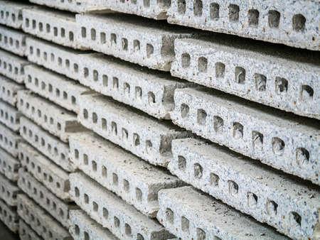 precast: Stack of precast concrete able Stock Photo