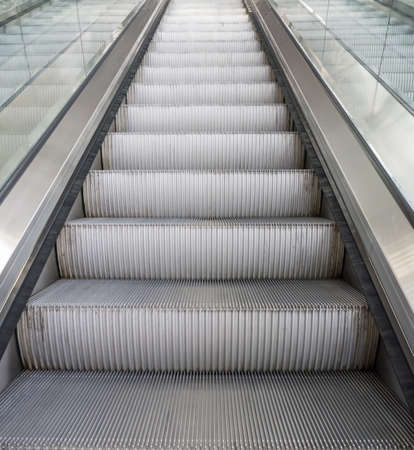faster: Escalator to move up high faster Stock Photo