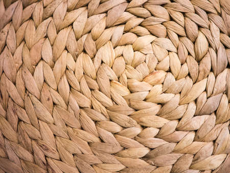 water hyacinth: Abstract circular background of water hyacinth weave handmade product