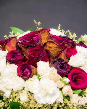 wither: Old, wither, roses bouquet isolated
