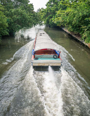 River boat transportation in Saen Saep canal Stock Photo