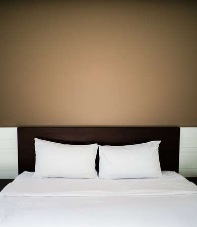 good night: Clean and neat bed in concept of pleasure stay and good night.