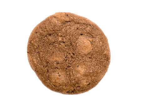One rounded cookie isolated on white background Stock Photo