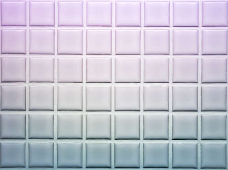 Mosaic tiles wall decoration in violet and blue shade