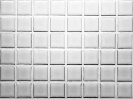 Mosaic tiles wall decoration in white and grey shade Stock Photo - 39654906