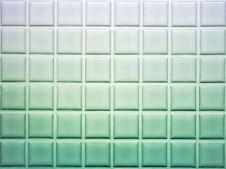 Mosaic tiles wall decoration in green shade