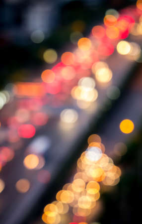 Defocused of cars light on the road able to use as urban background Stock Photo - 40861292