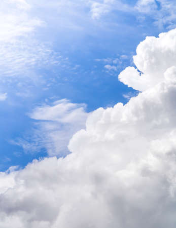 White cloud in the clear blue sky. Able to use as a background