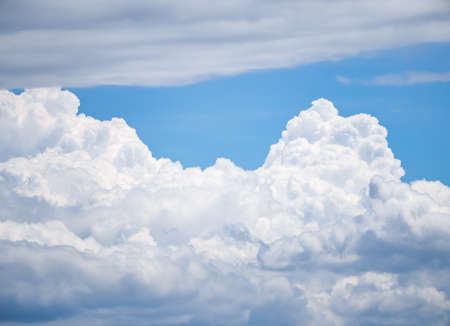 White cloud in the blue sky. Able to use as a background