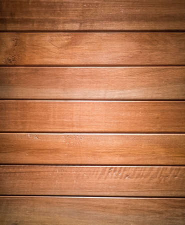 Brown wood planks in horizontal able to use as background Stock Photo