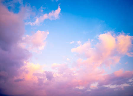 Lovely pastel cloudy sky in the morning able to use as natural background