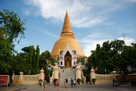 Prapathomjedi temple  Most popular for travel in Nakhonpathom Thailand