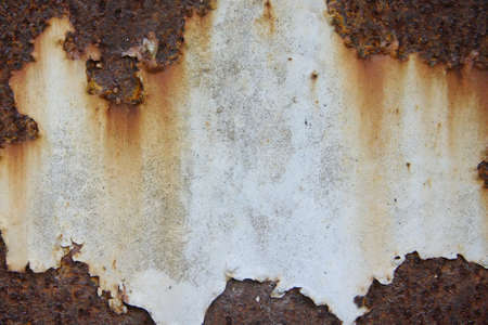 Rust iron sheet have center blank for text or post Stock Photo