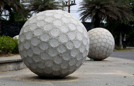 Statue Golf ball made of stone