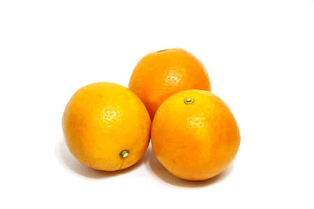 was: beautiful oranges was yummy on white background