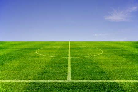 line of green Football field was beautiful