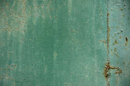 texture of Old green steel plate for background photo