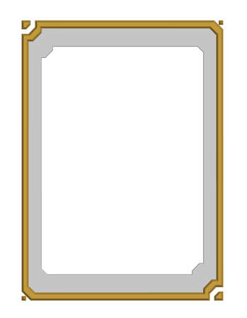 beautiful modern style of golden frame, board, for text and photo gallery, 3D vector Vector