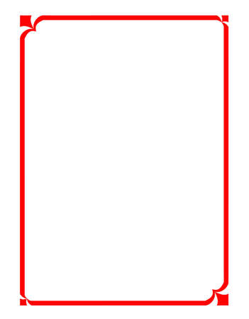 photo corner: vector of beautiful red frame, modern pattern board for text and picture
