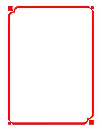margine: vettoriale della bella cornice rossa, bordo modello moderno per il testo e l'immagine Vettoriali