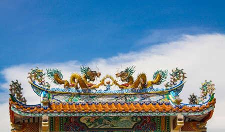 shrine: china dragon on roof of Door Shrine