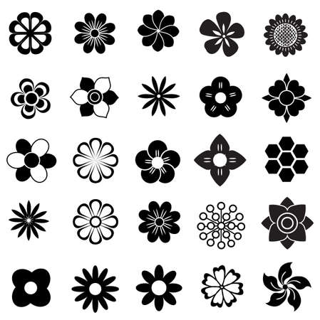 Blume Vektor-Set, Blumen-Symbol Standard-Bild - 25280348