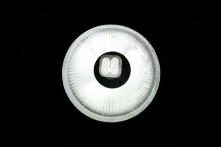 beautiful modern lamp tube in lamp lighting with white bright under black sky in night photo