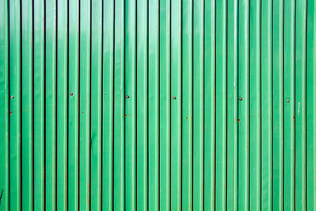pattern of green zinc wall Stock Photo