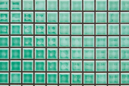 modern style design of green mosaic tile texture wall of floor, wall, pattern, decorate and background photo