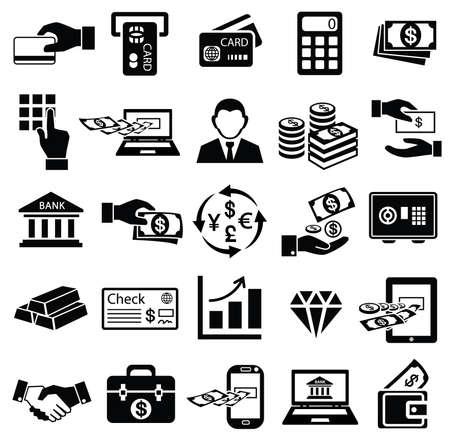 Finance money icon set Illustration