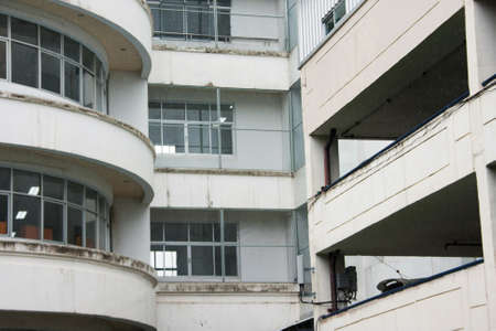 concrete balcony building of tower