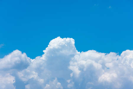 beautiful half clouds and blue sky Stock Photo
