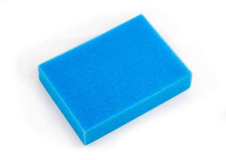 fresh blue foam on white background Stock Photo