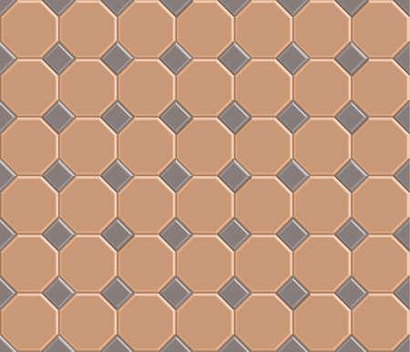pavement: 3d pavement brick pattern stone-octagon