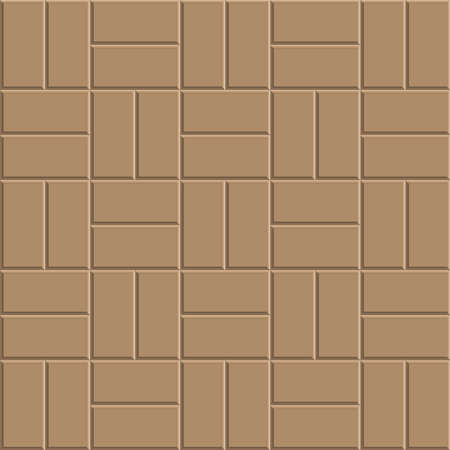 Clay Brick Stone Floor Pattern Pavement Design Vector