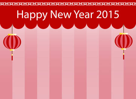 chinese new year 2015 scene, stage, background and wallpaper