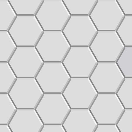tiles texture: 3d hexagon pattern block of gray stone tile for floor construction model Illustration