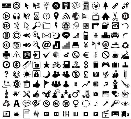 internet icon set, sign web and computer social media symbol