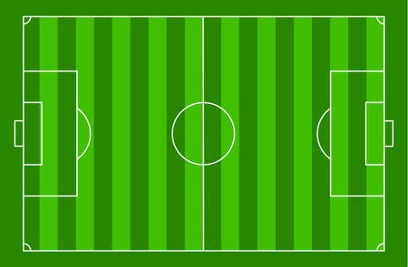 top view soccer court, football field sport, illustration