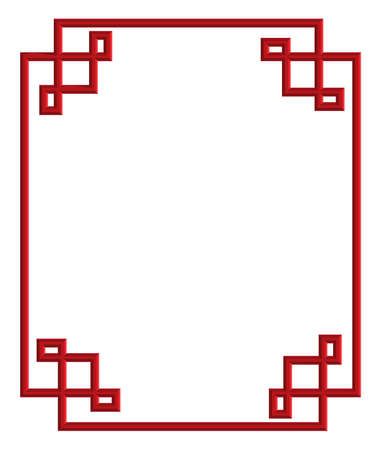 Red 3d Pattern Of China Frame, Vector Illustration For Decoration ...
